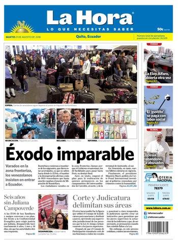Quito 21 de agosto de 2018 by Diario La Hora Ecuador - issuu 1c5330cf607