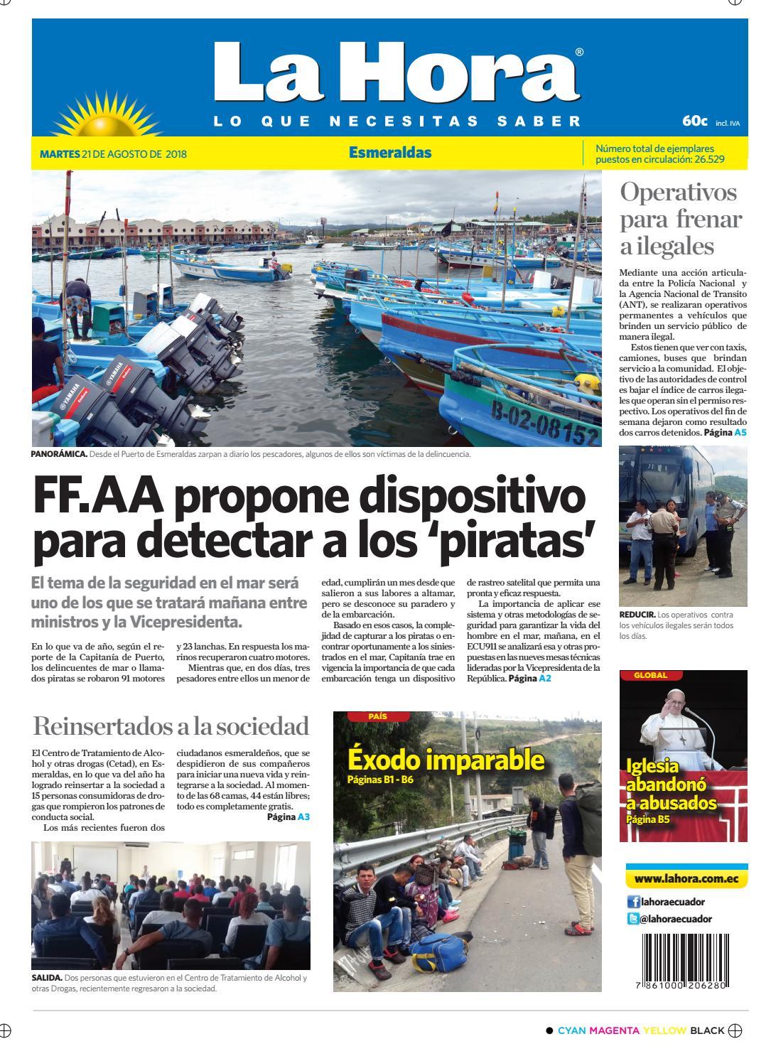 Esmeraldas 21 de agosto de 2018 by Diario La Hora Ecuador - issuu