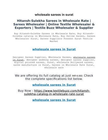 wholesale sarees in surat by textilebuzzsurat - issuu