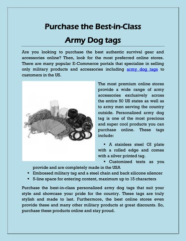 Purchase the Best-in-Class Army Dog tags by Army Surplus