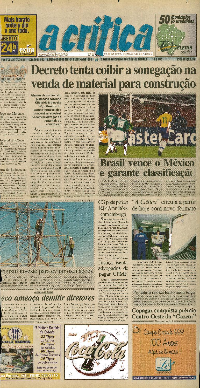 b2018695c3c83 Jornal A Crítica - Edição 932 - 04 07 1999 by JORNAL A CRITICA - issuu