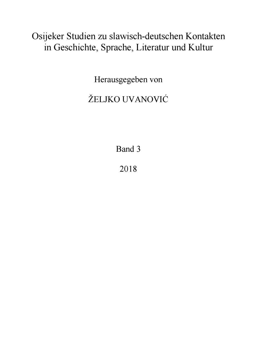 pre-view Sammelband Slawisch-deutsche Kontakte in Literatur ...