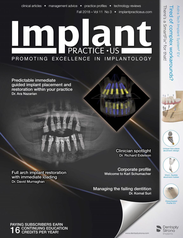 Implant Practice Us Fall 2018 Vol 11 No 3 By Medmark Llc Issuu