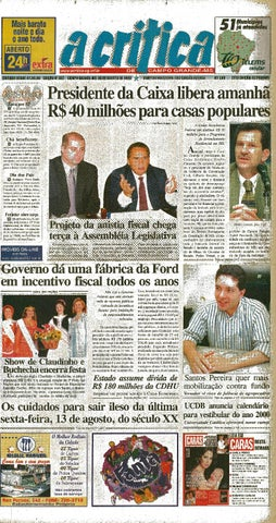 131a8d7c03771 Jornal A Crítica - Edição 937 - 08 08 1999 by JORNAL A CRITICA - issuu