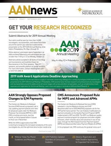 2018 September AANnews by American Academy of Neurology - issuu