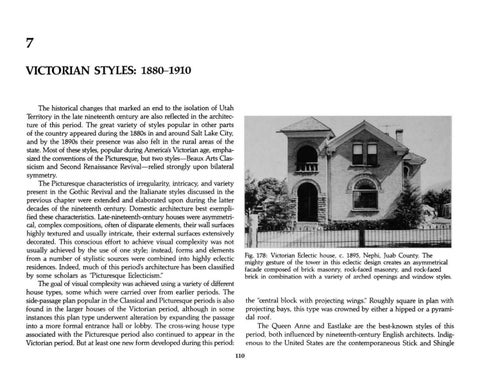 Page 118 of Utah's Historic Architecture - Victorian Styles 1880-1910