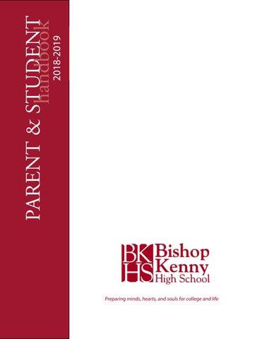 Parent Student Handbook 2018 2019 By Bishop Kenny High