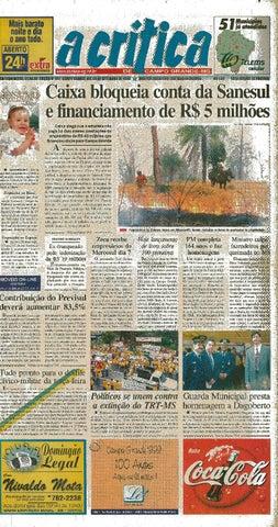 7cd737d47 Jornal A Crítica - Edição 941 - 05/09/1999 by JORNAL A CRITICA - issuu