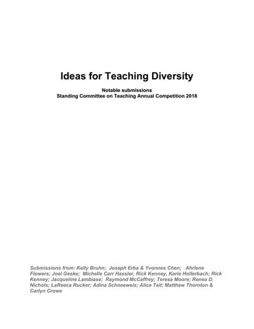 aejmcdiversityideasweb by AEJMC Website - issuu
