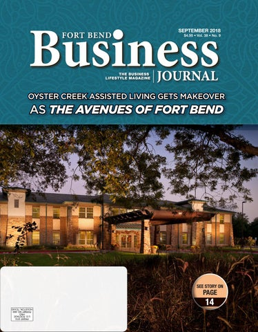 the Fort Bend Business Journal - September 2018 Edition by