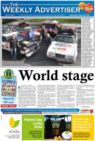 Page 1 & The Weekly Advertiser - Wednesday August 22 2018 by The Weekly ...