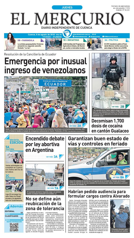hemeroteca-09-08-2018 by Diario El Mercurio Cuenca - issuu 3053c9cd74a
