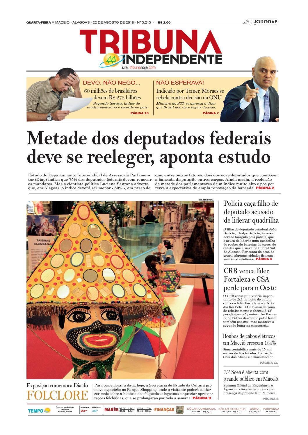 d01b40496 Edição número 3213 - 22 de agosto de 2018 by Tribuna Hoje - issuu