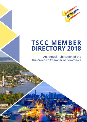 Thai Swedish Chamber Of Commerce Member Directory 2018 By