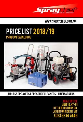 Spraychief Industries Master Pricelist 2018 by Spraychief - issuu