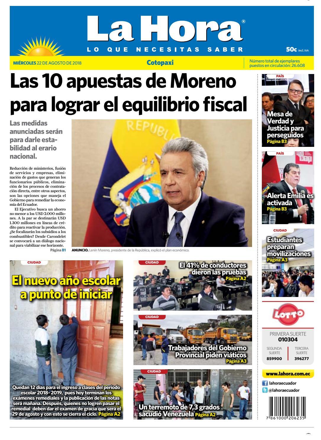 Cotopaxi 22 de agosto de 2018 by Diario La Hora Ecuador - issuu 2b567fe2ad1