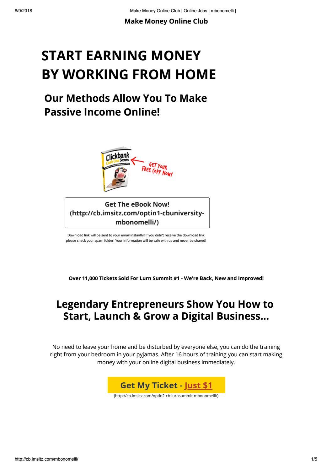 Making money online programs by mmonlineprograms - issuu