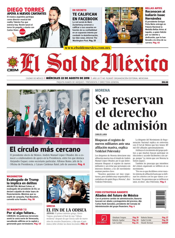 El Sol de México 22 de agosto 2018 by El Sol de México - issuu fe13b5565970c