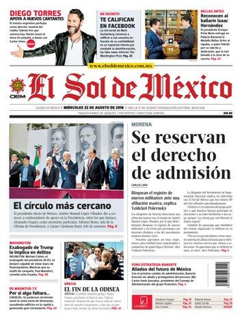 El Sol de México 22 de agosto 2018 by El Sol de México - issuu b2256f07c7f49