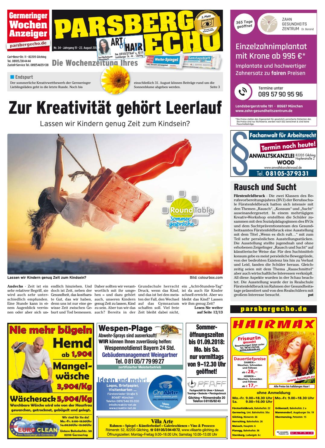 KW 34-2018 by Wochenanzeiger Medien GmbH - issuu