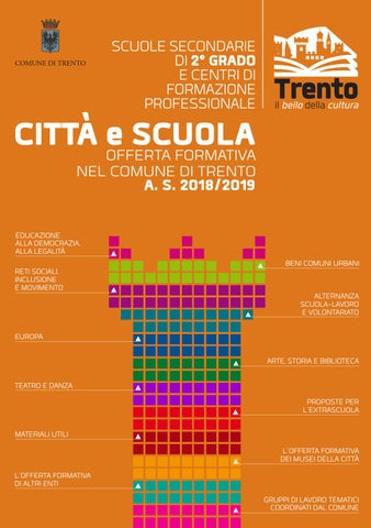 Città E Scuola Offerta Formativa Nel Comune Di Trento 20182019 Per