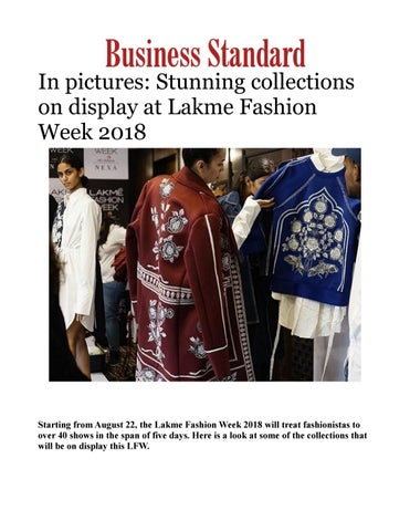 4d76a2341b3b Lakme Fashion Week 2018  Pictures of Stunning collections on display ...