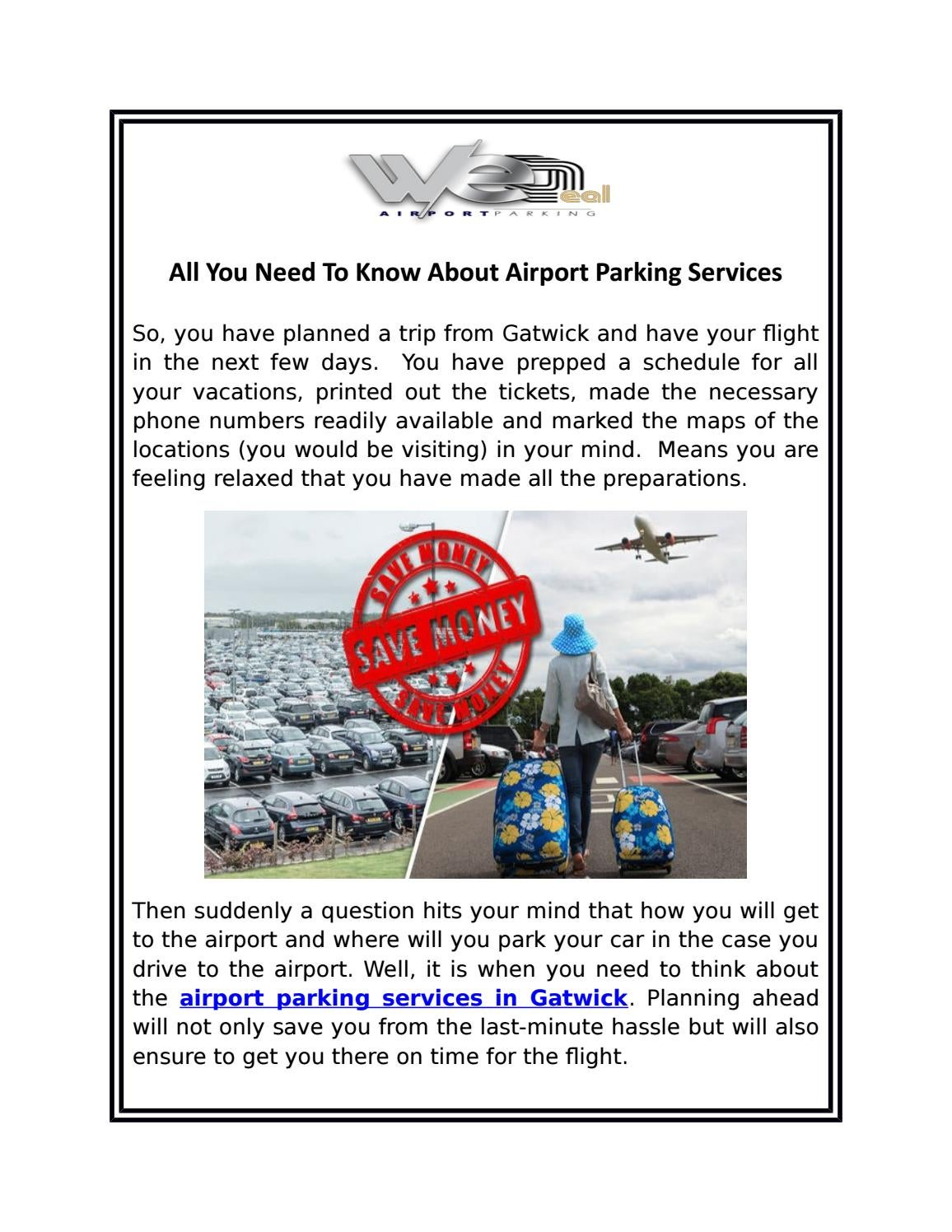 Gatwick Parking Official Gatwick Airport Parking By We Deal Meet