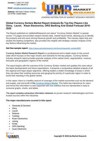Global Currency Sorters Market Report Analysis by sandy laurea - issuu