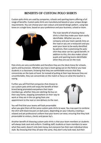 e6a46fb4 ... are used by companies, schools and sporting teams offering a full range  of benefits. Custom polo shirts are manufactured based on your unique design  ...