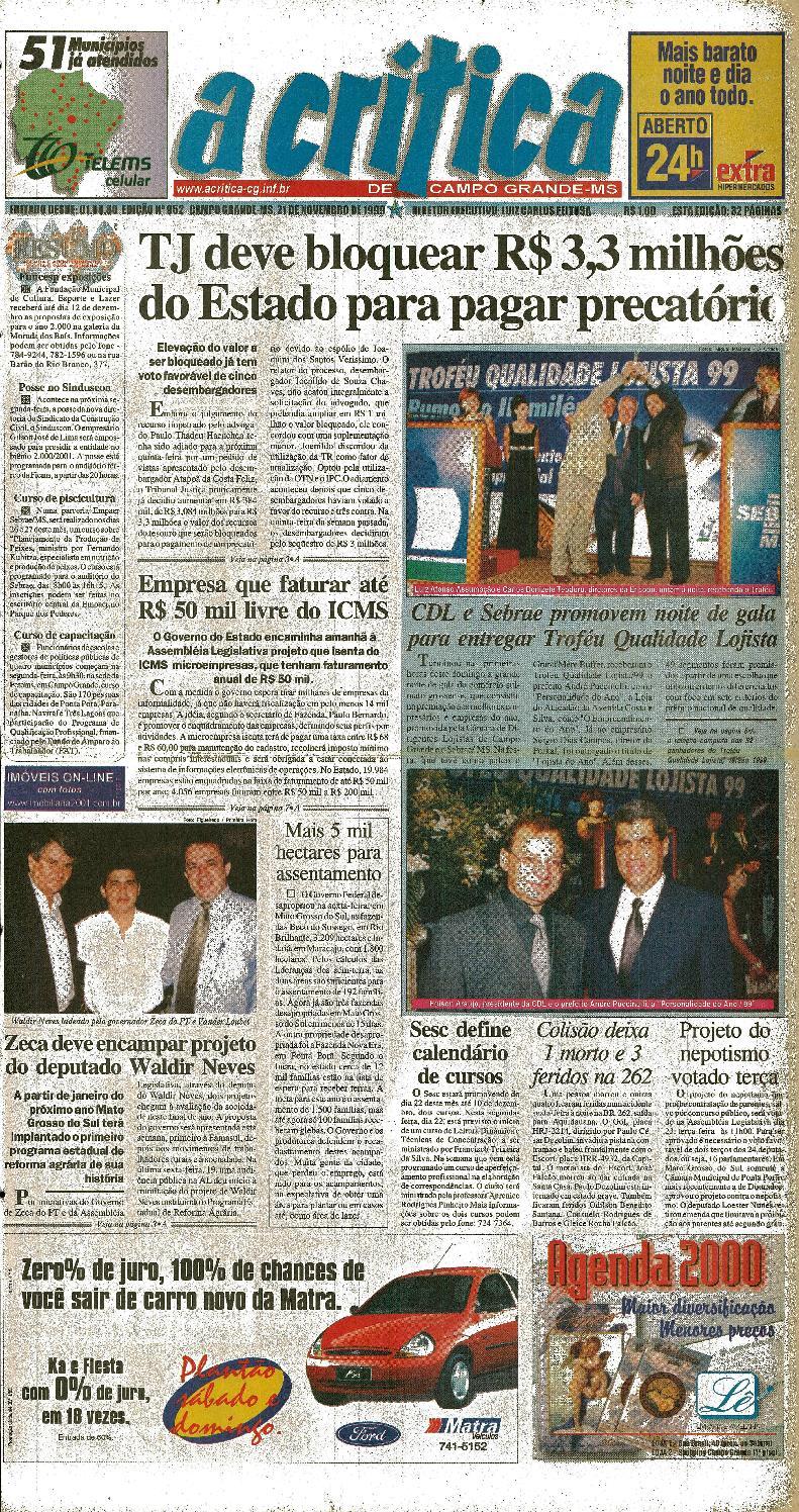 2ca50d8df Jornal A Crítica - Edição 952 - 21/11/1999 by JORNAL A CRITICA - issuu