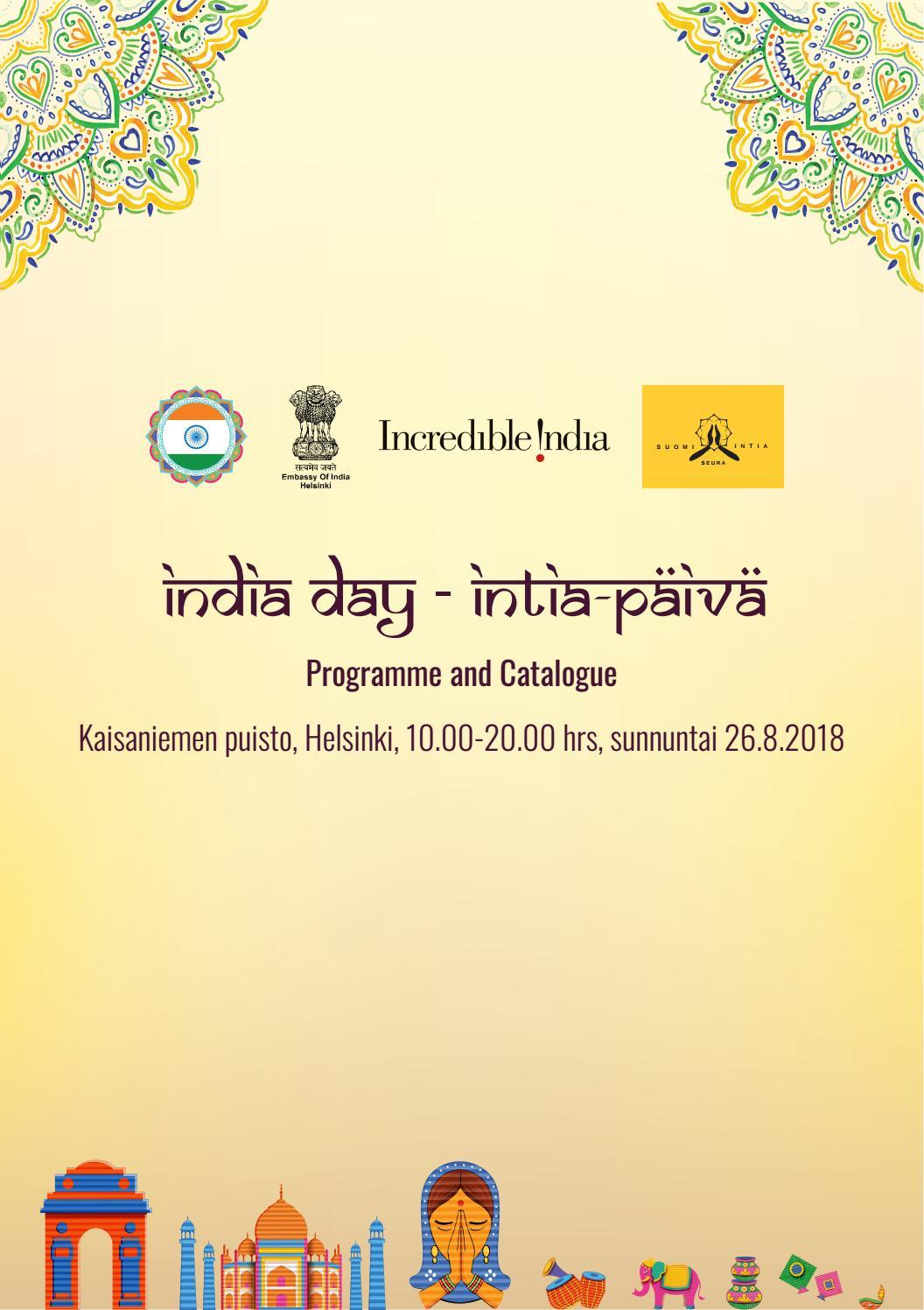 Intia Päivä 2018 Vapaa pääsy - India day 2018  Helsinki by Raghunath