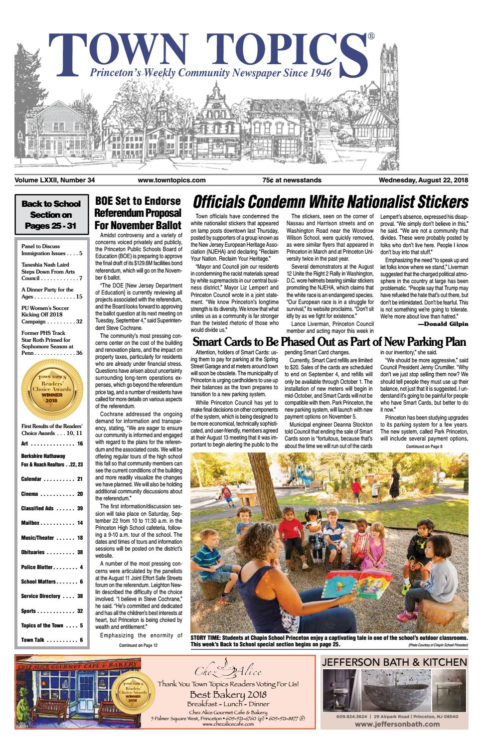 Town Topics Newspaper August 22 2018 By Witherspoon Media Group