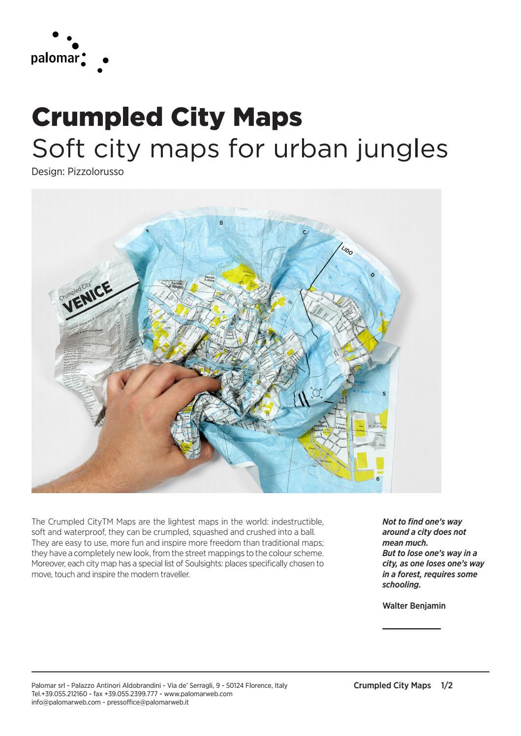 Athens Crumpled City Map