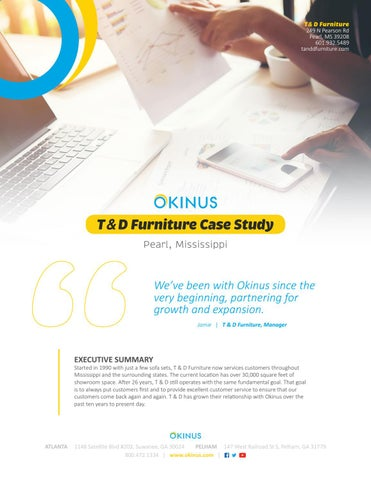 T D Furniture Case Study By Okinus Inc Issuu
