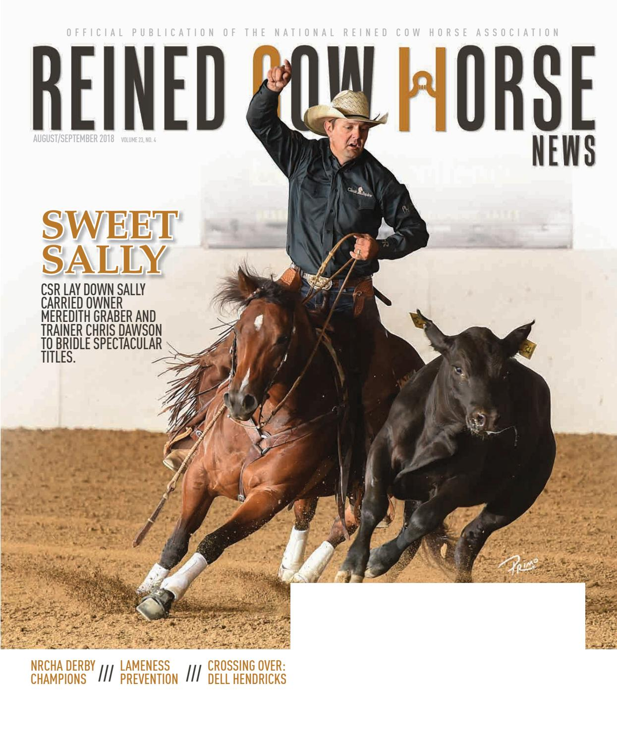 9f50ef6afa5a90 Reined Cow Horse News August September 2018 by Cowboy Publishing Group -  issuu