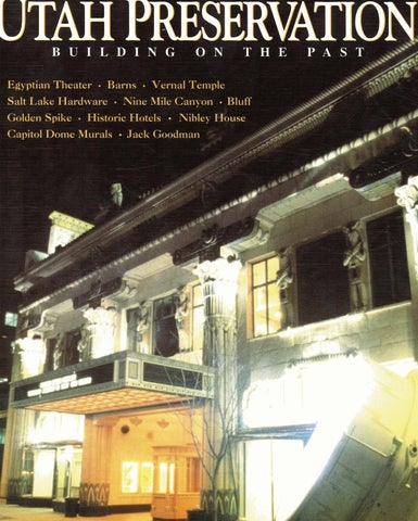 Utah Preservation Magazine - Building on the Past Volume 2