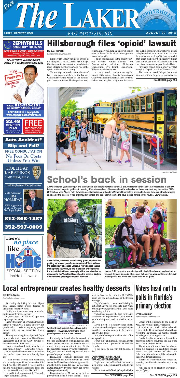 The Laker-East Pasco-August 22, 2018 by LakerLutzNews - issuu