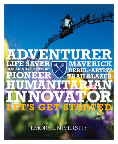 Undergraduate Admission Viewbook 2018-19 by Emory University - issuu