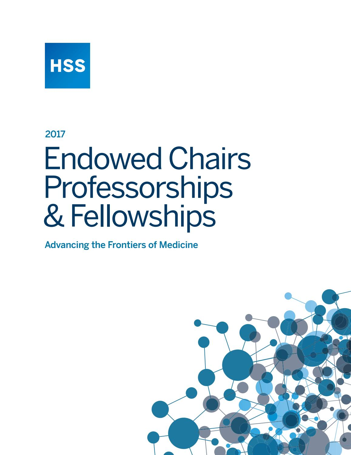 Endowed Chairs Brochure 2017 by Hospital for Special Surgery