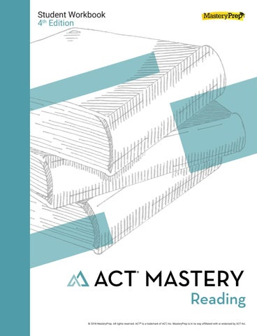 Sample ACT Mastery Reading Student Workbook 4th Edition