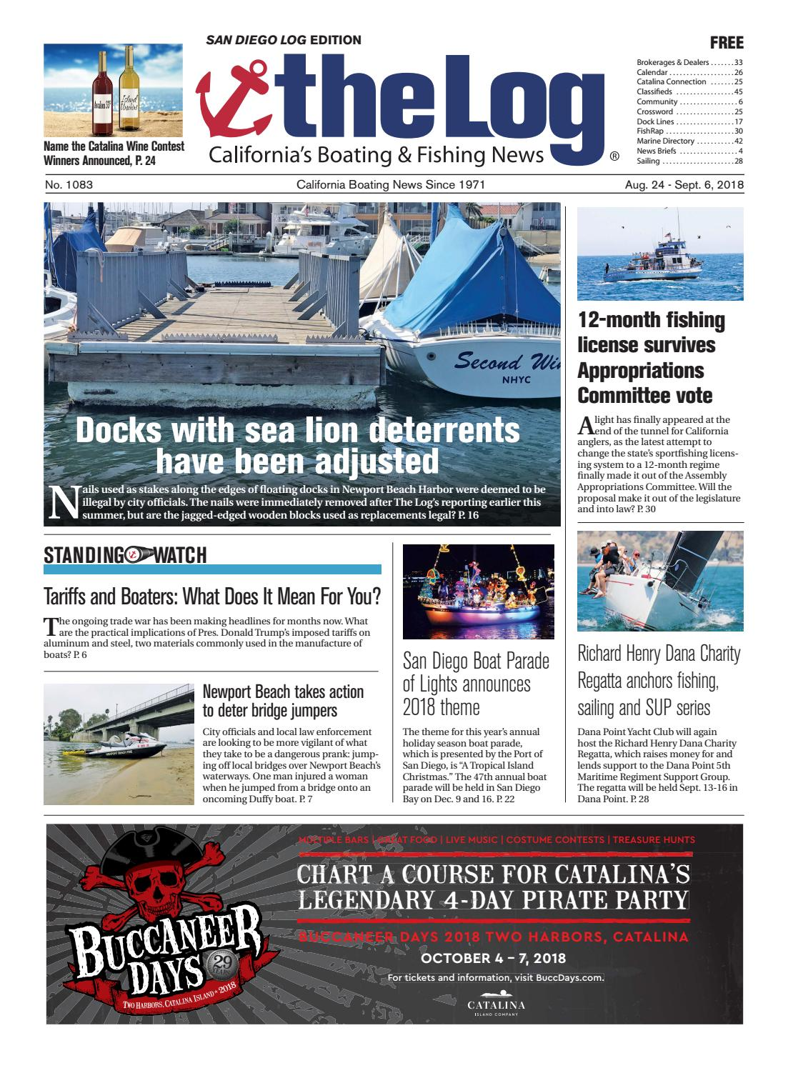 Aug  24 - Sept  6, 2018 - The Log Newspaper by Duncan