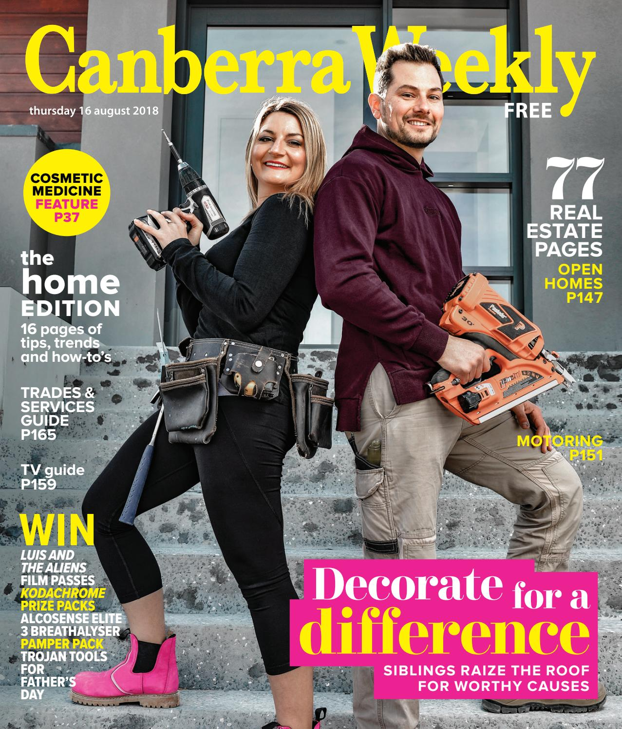 16 August 2018 By Canberra Weekly Magazine Issuu Terry Palmer Premium Towel Bath Ampamp Travel 500g Set2tp1001 Set Of 2 Light Blue
