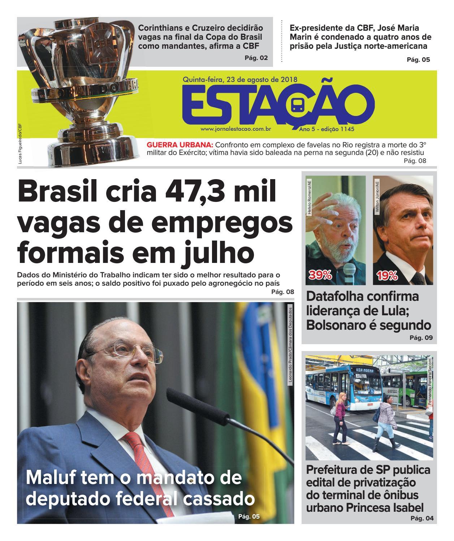 Jornal Estação de 23 08 2018 - Ed. 1145 by Jornal Estação - issuu bfff7a3f28c68