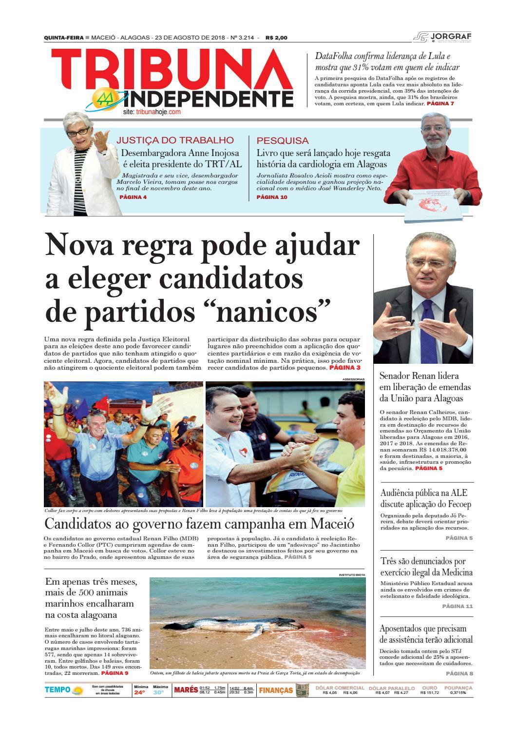 Edição número 3214 - 23 de agosto de 2018 by Tribuna Hoje - issuu 1a8a4ad4506d3