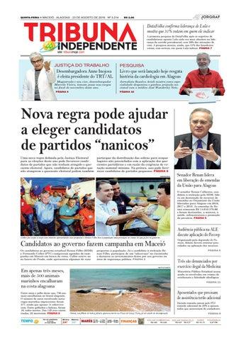 QUINTA-FEIRA n MACEIÓ - ALAGOAS - 23 DE AGOSTO DE 2018 - Nº 3.214 - 73c0a4ffd4