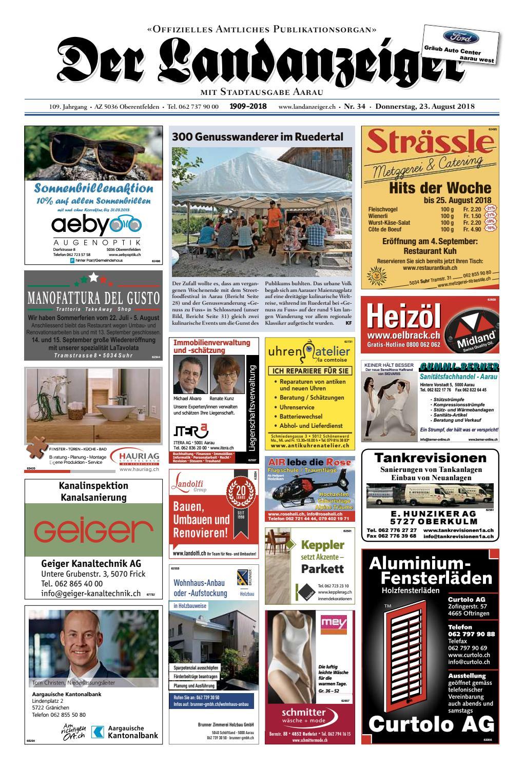 f3135eb9b0da62 Der Landanzeiger 34/18 by ZT Medien AG - issuu