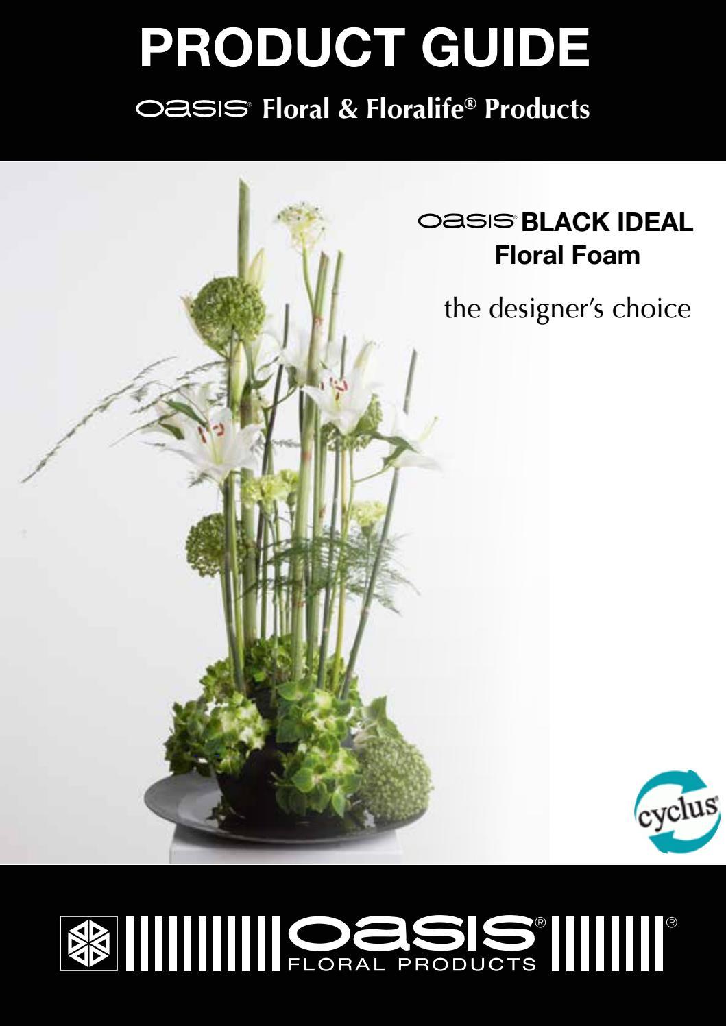 "Oasis Ideal Floral Foam Cross Funeral Tribute Frame 18/"" length 46cm x 26cm"