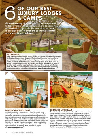 Page 46 of 6 of Our Best Luxury Lodges