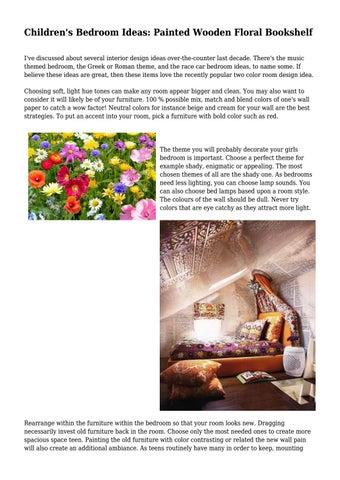 Children S Bedroom Ideas Painted Wooden Floral Bookshelf By Edubusinesscom Issuu