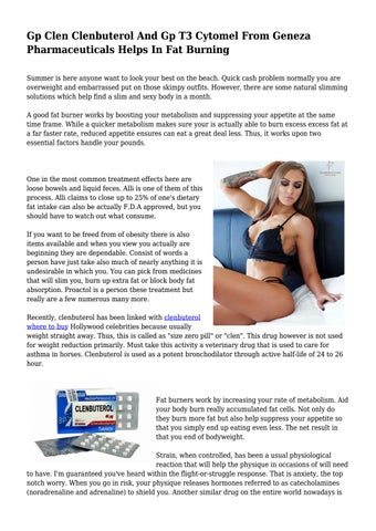 Gp Clen Clenbuterol And Gp T3 Cytomel From Geneza Pharmaceuticals
